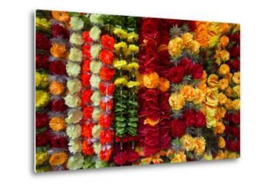 Flower Garlands for Sale-Michael Melford-Metal Print
