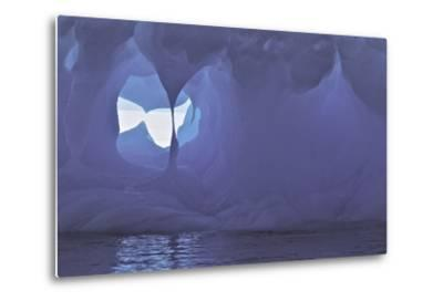 Textures and Holes in an Iceberg, Caused by Erosion-Jim Richardson-Metal Print