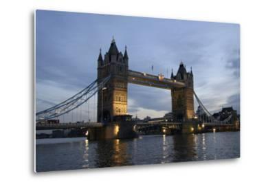 Tower Bridge and River Thames at Dusk, London,England,Uk-Design Pics Inc-Metal Print