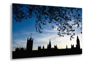 Houses of Parliament Silhouette, London, Uk Dosfotos-Design Pics Inc-Metal Print