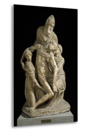 The Pieta Bandini, by Michelangelo--Metal Print