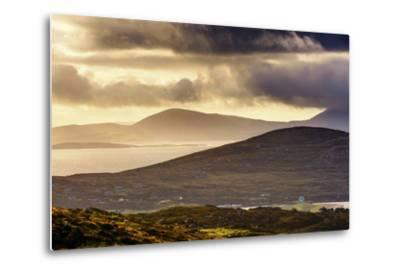 Darrynane Bay, Looking at Bera and Slieve Miskish Mountains over the Kenmere River, County Kerry-Chris Hill-Metal Print