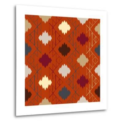 Vector Navajo Tribal Ornament-tukkki-Metal Print