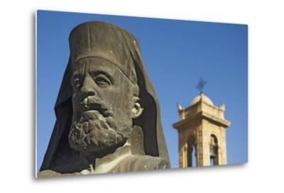 Archbishop Makarios Statue Outside Archbishopic Palace, Close Up-Design Pics Inc-Metal Print