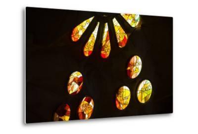 A Portion of a Rose Window at La Sagrada Familia Catedral-Michael Melford-Metal Print