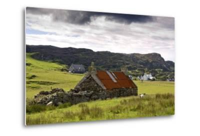 Isle of Colonsay, Scotland; Stone Farmhouse and Surrounding Field-Design Pics Inc-Metal Print