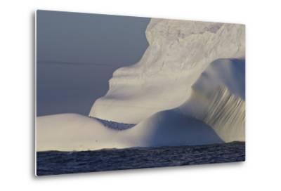 Distant Penguins on an Iceberg-Jim Richardson-Metal Print