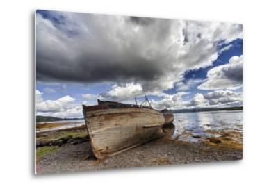 Weathered Boats Abandoned at the Water's Edge; Salem Isle of Mull Scotland-Design Pics Inc-Metal Print