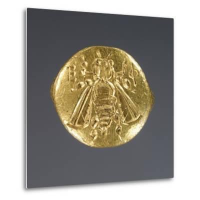 Greek Bee Ring--Metal Print