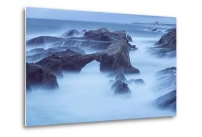 The Eroded Coastline of Stornetta Public Lands North of the Town of Point Arena-Michael Melford-Metal Print