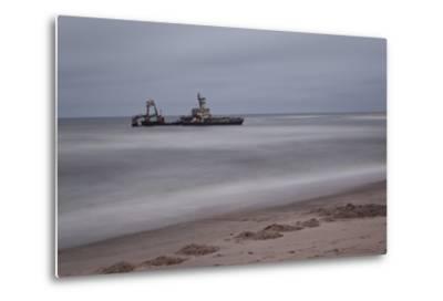 A Shipwreck Near Cape Cross, Namibia-Alex Saberi-Metal Print