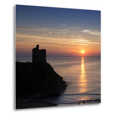 Sunset at Ballybunnion Castle, County Kerry, Ireland-Chris Hill-Metal Print