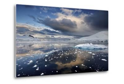 Evening Clouds over Floating Ice-Jim Richardson-Metal Print