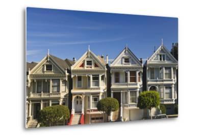 Victorian Style Homes Near Alamo Square; San Francisco California United States of America-Design Pics Inc-Metal Print