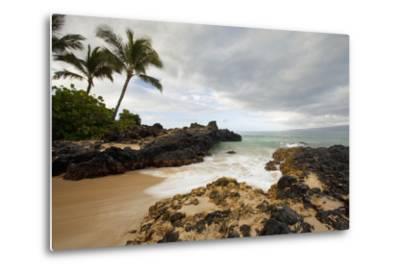 Hawaii, Maui, Makena Cove, Tropical Beach and Palm Trees-Design Pics Inc-Metal Print