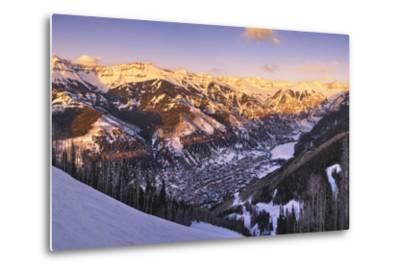 Telluride at Sunset-Jon Hicks-Metal Print