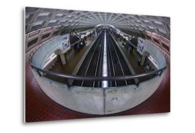 A Washington DC Metro Station.-Jon Hicks-Metal Print