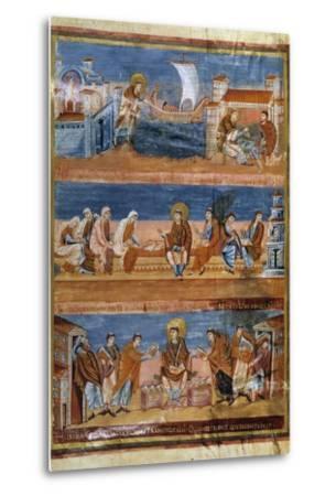 St Jerome Leaving Rome for Jerusalem - 9Th Cent. Illumination--Metal Print