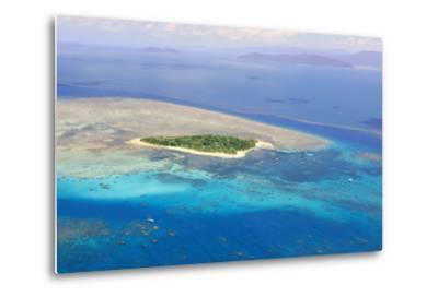 Green Island at Great Barrier Reef near Cairns Australia Seen from Above-dzain-Metal Print