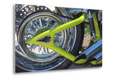 USA, Florida, Daytona Beach, customized bike, bike week.-Jim Engelbrecht-Metal Print