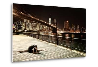 A Classic Ballerina Dances in Brooklyn Bridge Park-Kike Calvo-Metal Print