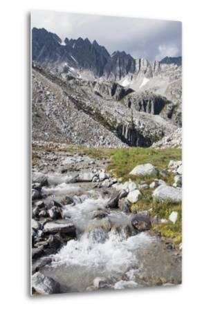 Mountain Stream and Mountains; British Columbia, Canada-Design Pics Inc-Metal Print