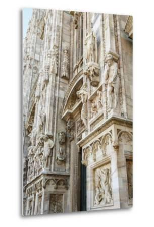 Detail of the Duomo (Cathedral), Milan, Lombardy, Italy, Europe-Yadid Levy-Metal Print