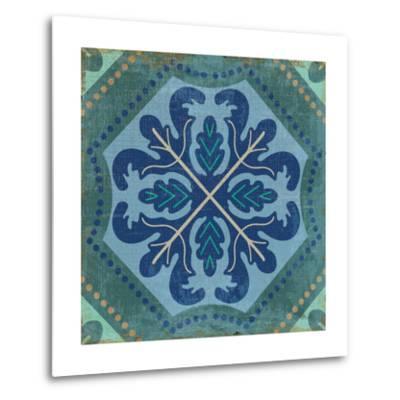 Santorini Tile II-Pela Design-Metal Print
