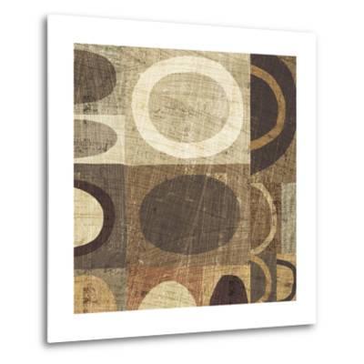 Modern Geometric Neutral II-Michael Mullan-Metal Print