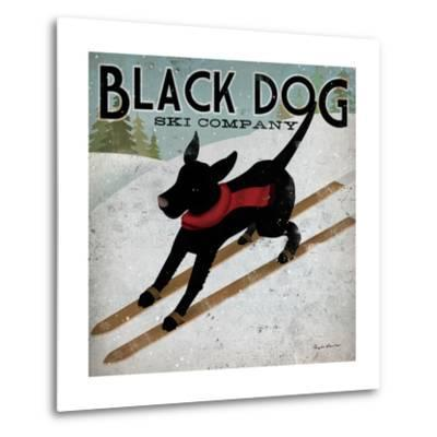 Black Dog Ski-Ryan Fowler-Metal Print