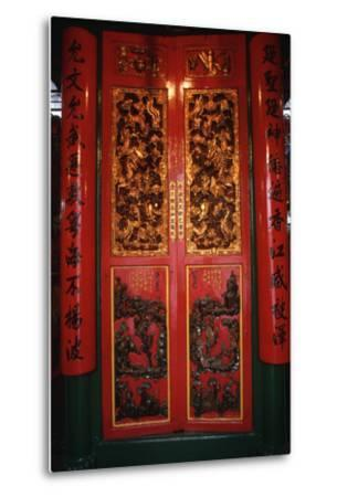 Doors at the Man Mo Temple-Macduff Everton-Metal Print