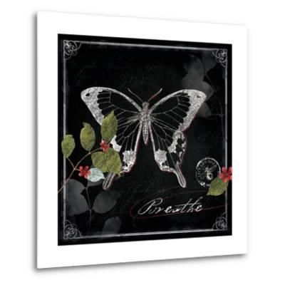 Chalkboard Wings I-Katie Pertiet-Metal Print