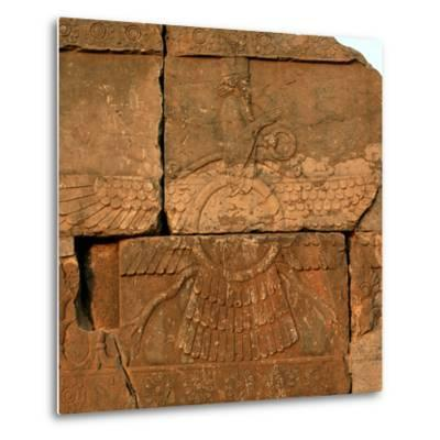 A Relief in Persepolis Depicting Faravahar, the Best-Known Symbol of Zoroastrians-Babak Tafreshi-Metal Print