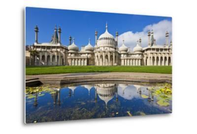 Brighton Royal Pavilion with Reflection, Brighton, East Sussex, England, United Kingdom, Europe-Neale Clark-Metal Print