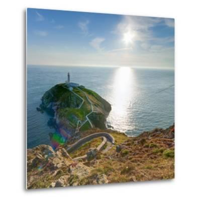 South Stack Lighthouse, Holy Island, Anglesey, Gwynedd, Wales, United Kingdom, Europe-Alan Copson-Metal Print