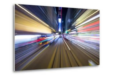 Street Lights from Hong Kong Tramway Street Car, China-Paul Souders-Metal Print