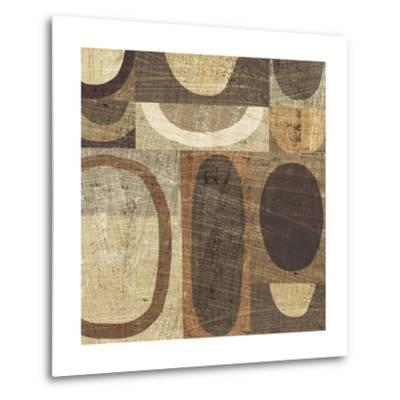 Modern Geometric Neutral I-Michael Mullan-Metal Print