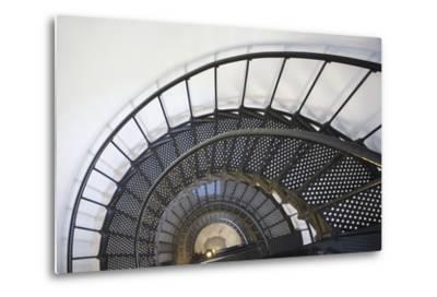 Spiral Stairway in Yaquina Head Lighthouse; Oregon United States of America-Design Pics Inc-Metal Print