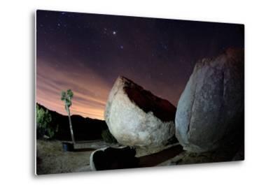 Granite Rocks under Stars in Joshua Tree National Park-Ben Horton-Metal Print
