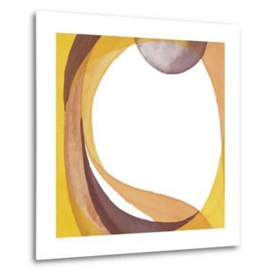 Brown Geometric I-Chris Paschke-Metal Print