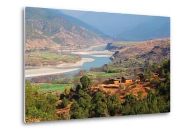 Yangtze River, Yunnan, China, Asia-Bruno Morandi-Metal Print