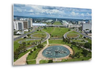 View from the Television Tower over Brasilia, Brazil, South America-Michael Runkel-Metal Print