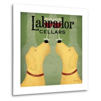 Two Labrador Wine Dogs Square-Ryan Fowler-Metal Print
