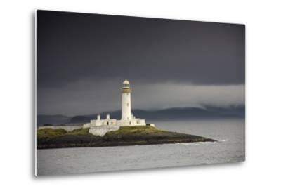 A Lighthouse; Eilean Musdile in the Firth of Lorn,Scotland-Design Pics Inc-Metal Print