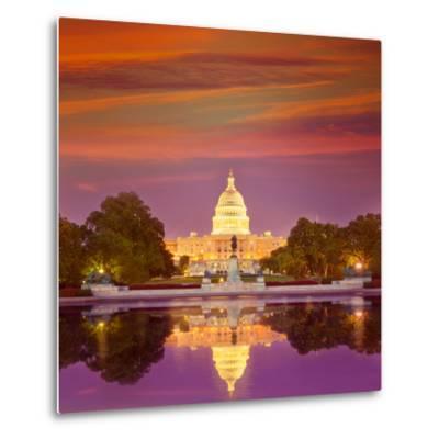 Capitol Building Sunset Congress of USA Washington DC US-holbox-Metal Print