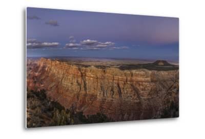 Earth's Shadow, the Blue Band, and Anti-Crepuscular Rays over the Grand Canyon-Babak Tafreshi-Metal Print