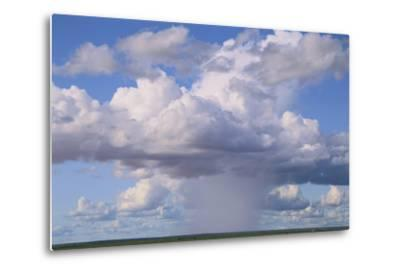 Cumulus Clouds Forming a Rainstorm-DLILLC-Metal Print