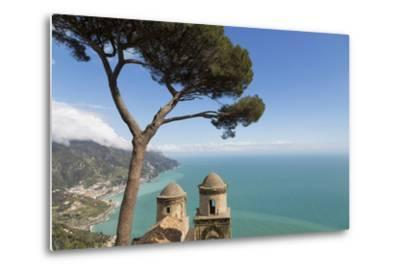 The Twin Domes of San Pantaleone Church from Villa Rofolo in Ravello-Martin Child-Metal Print