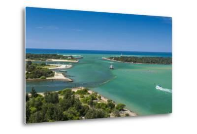 Turquoise Waters at Lakes Entrance, Victoria, Australia, Pacific-Michael Runkel-Metal Print