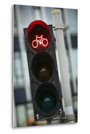 Bicycle Traffic Light-Jon Hicks-Metal Print